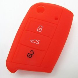 COQUE SILICONE ROUGE CLE PILP VOLKSWAGEN GOLF 7