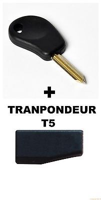 CLE DE SECOURS CITROEN + TRANSPONDEUR T5