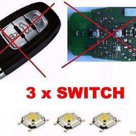 3 BOUTON SWITCH AUDI-A6- A7-A8-TT-S4-S6- S8-A2-A3-A4-A5