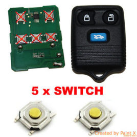 5 BOUTON SWITCH FORD FOCUS MONDEO FIESTA C-MAX KA