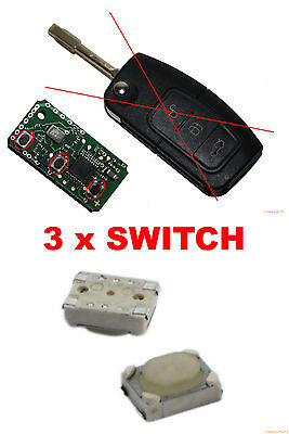 3 BOUTON SWITCH FORD FOCUS MONDEO C MAX FIESTA