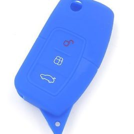 COQUE SILICONE BLEU CLE PILP CLE FORD FOCUS MONDEO C MAX FIESTA 3 BOUTONS