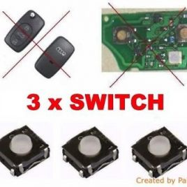 3 BOUTON SWITCH AUDI-TT- S4-S6-A6-A7-A8- S8-A2-A3-A4 A5