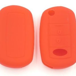 COQUE SILICONE ROUGE CLE PILP RANGE ROVER HSE SPORT 2 BOUTONS