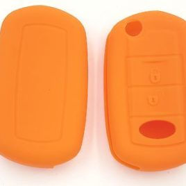COQUE SILICONE ORANGE CLE PILP RANGE ROVER HSE SPORT 2 BOUTONS