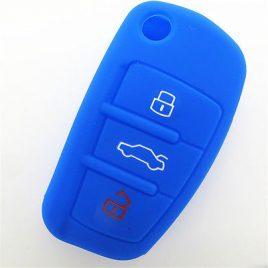 COQUE HOUSSE SILICONE CLE PILP AUDI Q7, A3,A4,A6,A6 QUATTRO,A8, TT,S6 BLEU FONCE