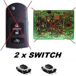 2 BOUTONS SWITCH COQUE CLE PILP MAZDA