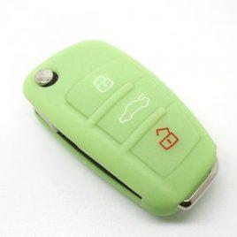 COQUE HOUSSE SILICONE CLE PILP AUDI Q7, A3,A4,A6,A6 QUATTRO,A8, TT,S6 VERT POMME