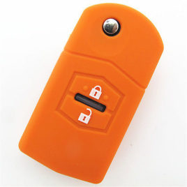 COQUE HOUSSE SILICONE CLE MAZDA ORANGE