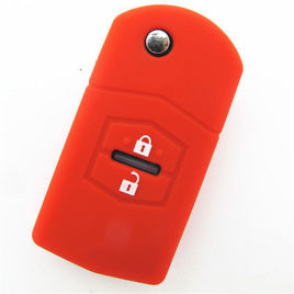 COQUE HOUSSE SILICONE CLE MAZDA ROUGE