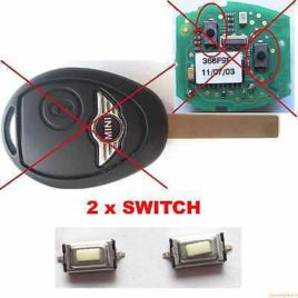 2 BOUTONS SWITCH COQUE CLE PILP MINI AUSTIN