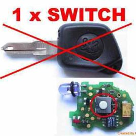 2 BOUTONS SWITCH PEUGEOT 106 306 405