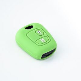 COQUE HOUSSE SILICONE CLE PEUGEOT 406 VERT