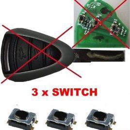 3 BOUTONS SWITCH PORSCHE CAYMAN BOXTER 987 997 GT3