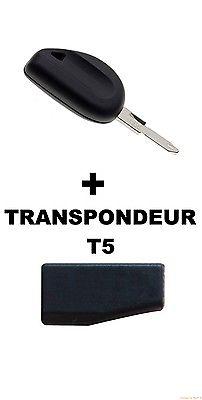 CLE DE SECOURS RENAULT + TRANSPONDEUR T5+ LAME DE CLE NE73