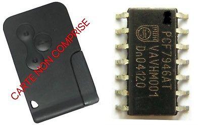 TRANSPONDEUR ANTIDEMARRAGE PCF 7946AT POUR CARTE RENAULT MEGANE SCENIC