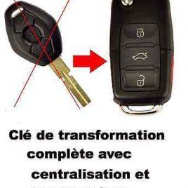 COQUE CLE PILP BMW X3 REF : 66126955748 DE : 2004 à 2008