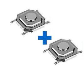2 BOUTONS SWITCH 4,5 x 4,5 RENAULT LAGUNA ESPACE MEGANE ETC …