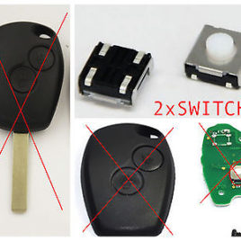 2 BOUTONS SWITCH RENAULT CLIO MODUS MASTER TWINGO