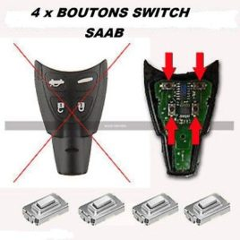 4 BOUTONS SWITCH COQUE CLE PILP SAAB  4 BOUTONS