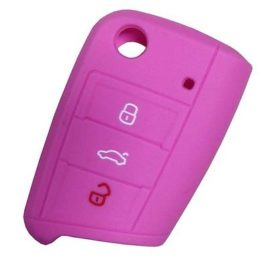 COQUE SILICONE ROSE CLE PILP SEAT LEON