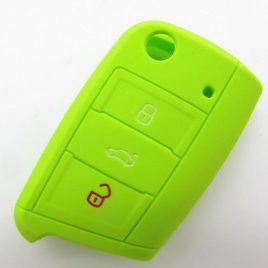 COQUE SILICONE VERT CLE PILP SEAT LEON