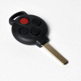 Coque De Clé Télécommande 3 Boutons Pour Smart Fortwo 450, Forfour 451, Roadster