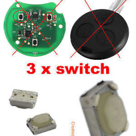 3 x BOUTONS SWITCH SMART FORTWO 450