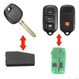 CLE  TOYOTA + 4D-67 + TELECOMMANDE 315 Mhz