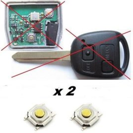 2 BOUTONS SWITCH COQUE CLE  TOYOTA COLORADA,HIACE,RAV4,LAND CRUISER,HIGHLANDER