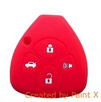 COQUE HOUSSE SILICONE ROUGE CLE PILP TOYOTA RAV4,YARIS,COROLLA, MATRIX,VENZA