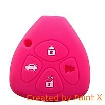 COQUE HOUSSE SILICONE ROSE CLE PILP TOYOTA RAV4,YARIS,COROLLA, MATRIX,VENZA