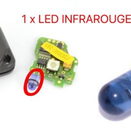 REPARATION POUR CLE RENAULT 21 LED INFRAROUGE